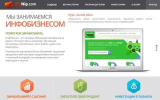 Обзор партнерской программы Biznip