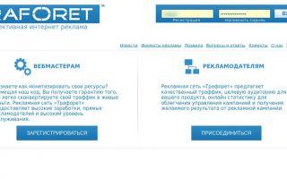 Обзор сети интернет рекламы — Traforet.com