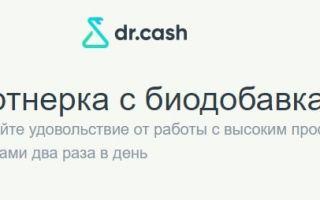 Обзор партнерской программы Dr.Cash