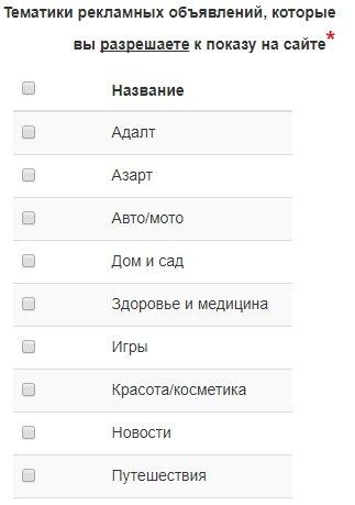 выбор тематик для тизеров