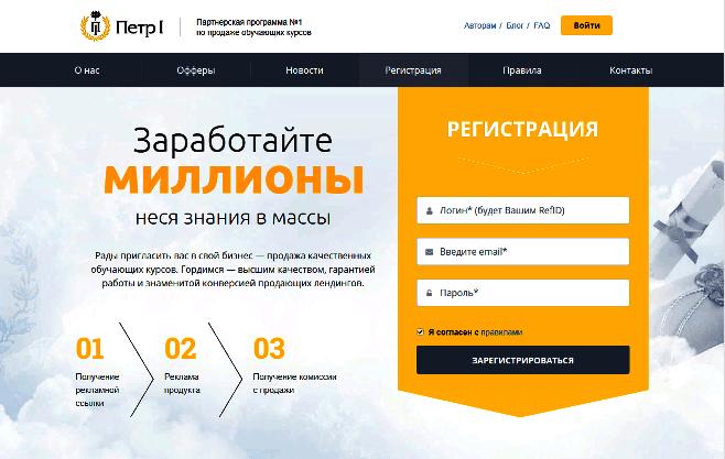 партнёрская программа PP1.Ru