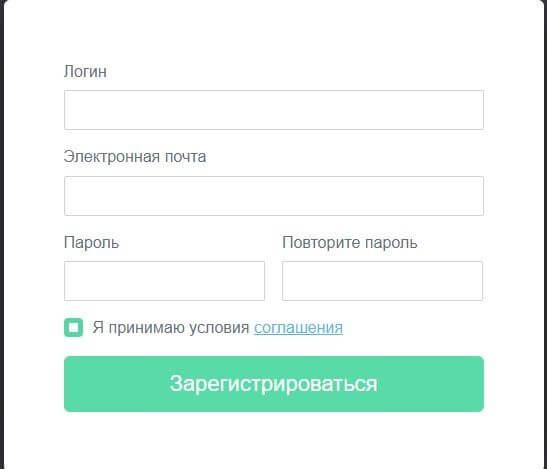 Регистрация в tapclick